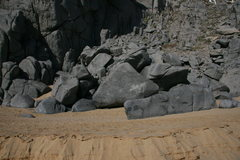 Rock Climbing Photo: The boulders where the small roof is located. Roof...
