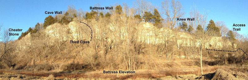 Battress Elevation