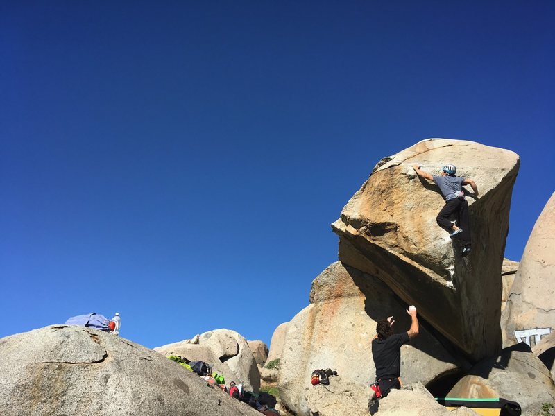 A fantastic high ball problem at the Lion's Den in menifee.