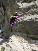 Rock Climbing Photo: Steep bit near the top of the first pitch of Chega...