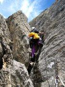 Rock Climbing Photo: Start of p4 of Voie des Quarantes