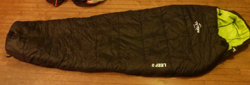 Rock Climbing Photo: Teton Sports LEEF 0F sleeping bag