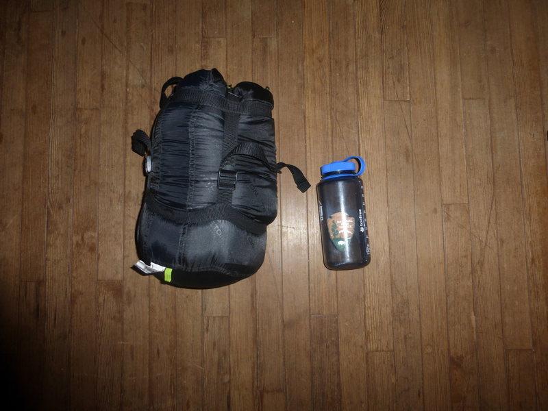 LEEF sleeping bag compressibility. Compression sack not included