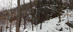 Rock Climbing Photo: This 30 ft rock outcrop is a useful landmark if yo...