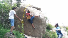 Rock Climbing Photo: Babaji on his way to the 2nd ascent