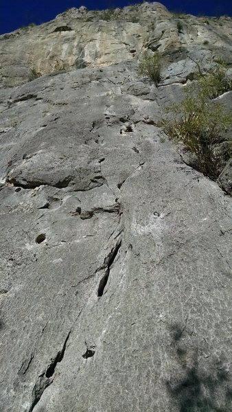 Rock Climbing Photo: shows the start of this really run route!