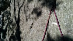 Rock Climbing Photo: there is a plaque at the base of this route