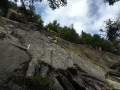 Rock Climbing Photo: This was taken when the corner was covered in moss...