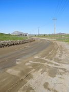 Rock Climbing Photo: The dirt access road, Lion's Den