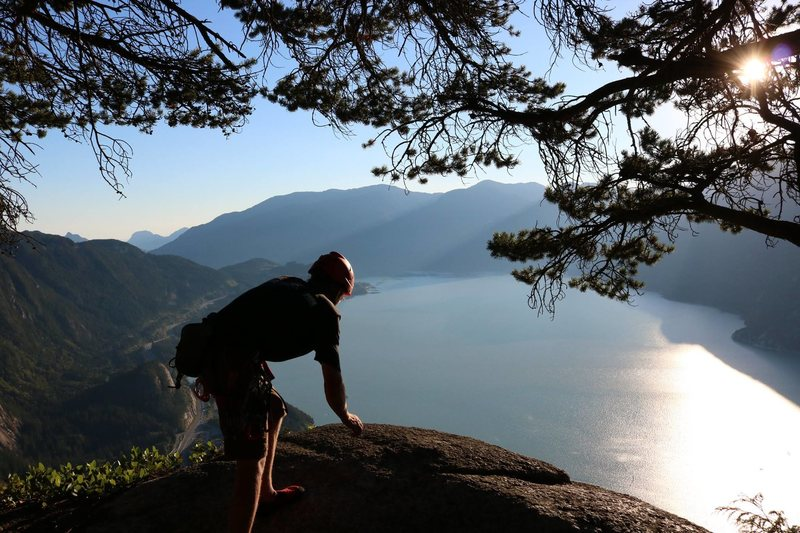 Rock Climbing Photo: The top of Upper Black Dike as the sun was getting...