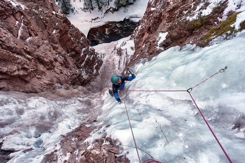 Rock Climbing Photo: Ellen Brodrick on Nightfall. Jan 28, 2017.