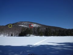 Rock Climbing Photo: Little Cathead Mt from the NW corner of Woods Lake...