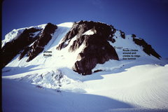 Rock Climbing Photo: The Route climbs to ridge crest to the left (west)...