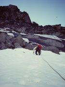 Rock Climbing Photo: Steve Latham approaching the rock