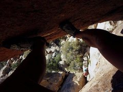Rock Climbing Photo: Into the upper right-slanting dihedral of K2R, wit...