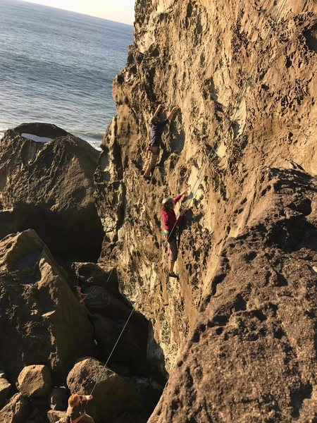 """Rock Climbing Photo: TR set up on """"Play Misty For Me"""" with my..."""
