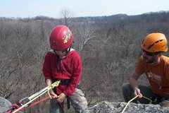 Rock Climbing Photo: Learning the ropes