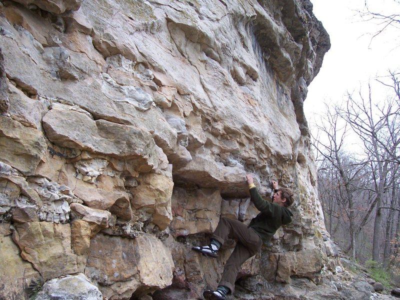 Rock Climbing Photo: Even Marsh on Middle Traverse