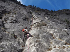 Rock Climbing Photo: Belaying on the first pitch. Credit: chossboys.wee...