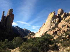 Rock Climbing Photo: The What's My Line? dome seen from the approac...