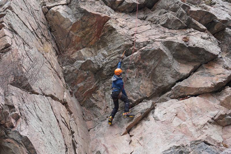 Rock Climbing Photo: Brian dry tooling.