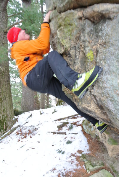 Rock Climbing Photo: Bouldering in the ice boots!