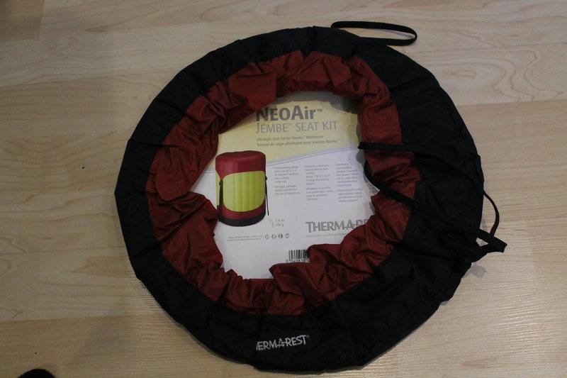 Rock Climbing Photo: NEW Thermarest NeoAir Jembe Seat Kit. Color: Pomeg...