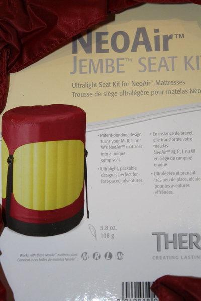 Rock Climbing Photo: NeoAir Jembe Seat Kit