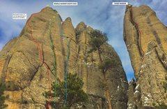 Rock Climbing Photo: MIDDLE MARKER SOUTHFACE TOPO A. Deja Vu Prophecy 5...