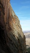 Rock Climbing Photo: Unknown climber on Hasta La Hueco.
