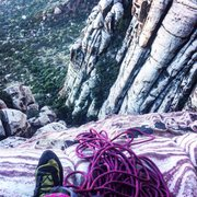 Rock Climbing Photo: 3rd belay of olive oil, great climb with a beautif...