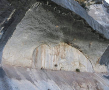 Rock Climbing Photo: Outline of the buffalo this wall get's it name...