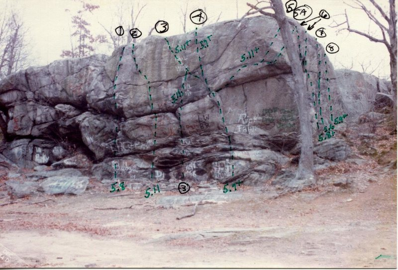 Old photo showing routes from Ed Sewall.