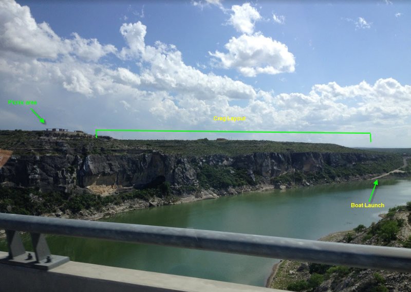 Rock Climbing Photo: Shot of the cliff faces looking down river from th...