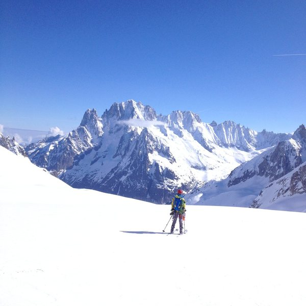 Skiing down the Mer de Glace