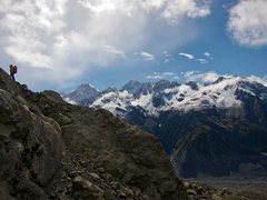 Rock Climbing Photo: High above the Tasman Glacier, on the slopes of Mo...