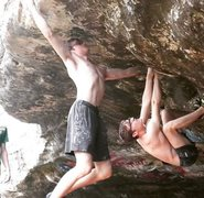 Rock Climbing Photo: The initial dyno to breakeation.