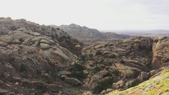 Rock Climbing Photo: View from the top of Crab Eyes.
