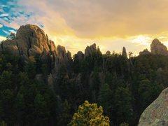 Rock Climbing Photo: South sea islands area on a beautiful Black Hills ...