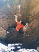 Rock Climbing Photo: Up the Raven.