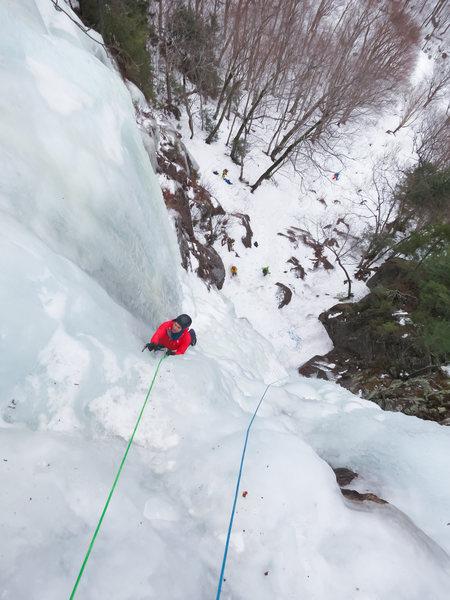 Rock Climbing Photo: Dracula, right