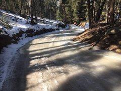 Turkey Rock road condition 2/2/17