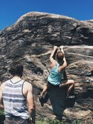 Rock Climbing Photo: Watching Monika work the moves on Beehive (or Hone...