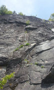 Rock Climbing Photo: GREAT 5.10 bolted pitch high up on the upper prima...