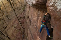 Rock Climbing Photo: Neanderthal on lead