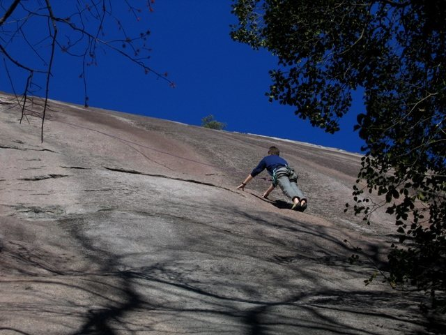 Rock Climbing Photo: The Sermon has Brian Connors attention...