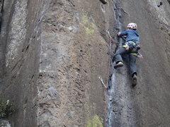 Rock Climbing Photo: Steve Levin climbing Fuera de los Limites.  Photo ...