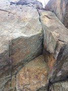 Rock Climbing Photo: Closeup - Phaeton Cliff.