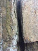 Rock Climbing Photo: Off-width on Phaeton Cliff.