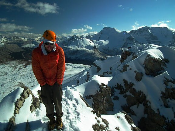 Near the summit of Mount Wilcox, Canadian Rockies